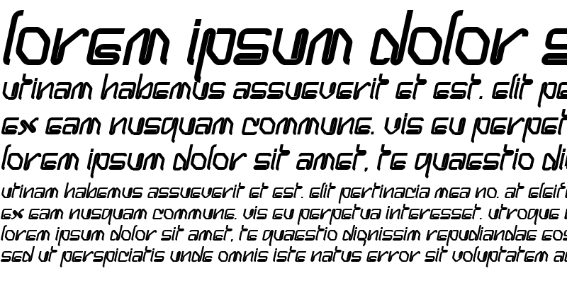Sample of Hanger Bold Italic