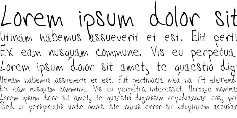 Sample of Hannahs Messy Handwriting Regular