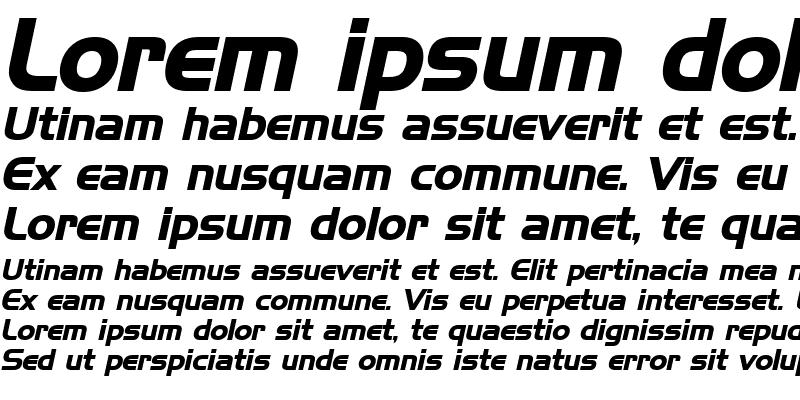 Sample of Hanzel Bold Italic
