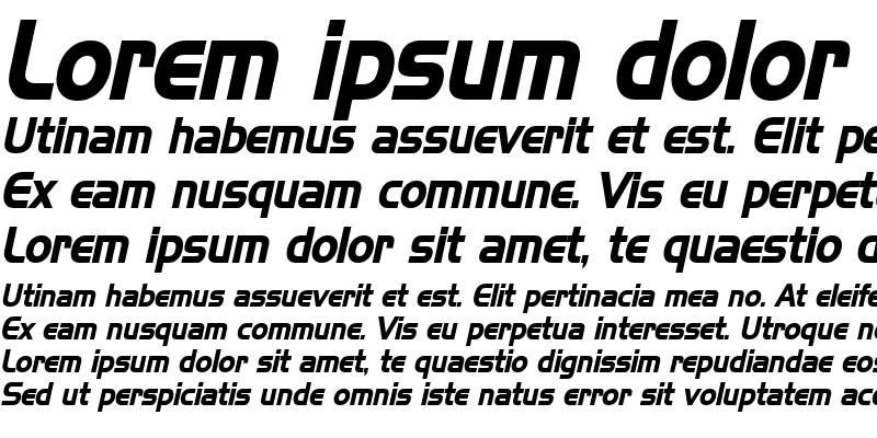 Sample of Hanzel Condensed Bold Italic