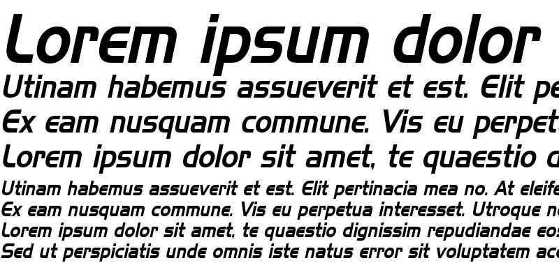 Sample of Hanzel Condensed Italic