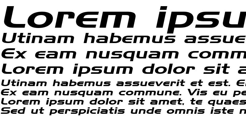 Sample of Hanzel Extended Italic