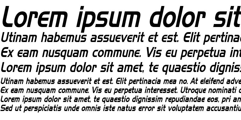 Sample of Hanzel Thin Italic