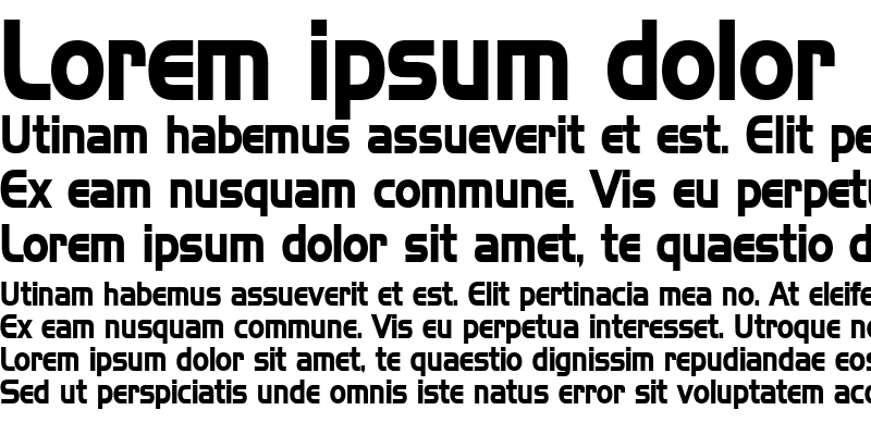 Sample of HanzelCondensed Bold