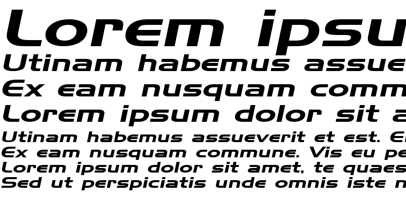 Sample of HanzelExtended Italic