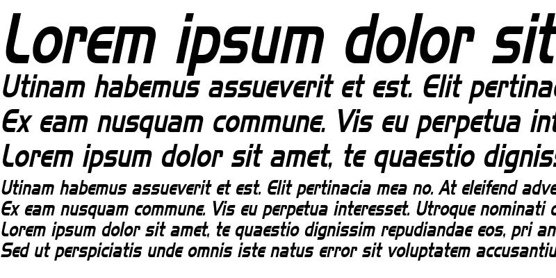 Sample of HanzelThin Italic