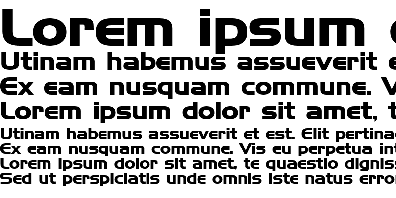 Sample of HanzelWide Bold