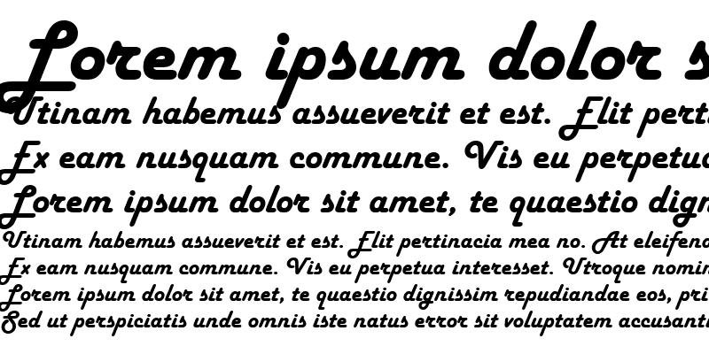 Sample of Harlow Solid Italic Italic