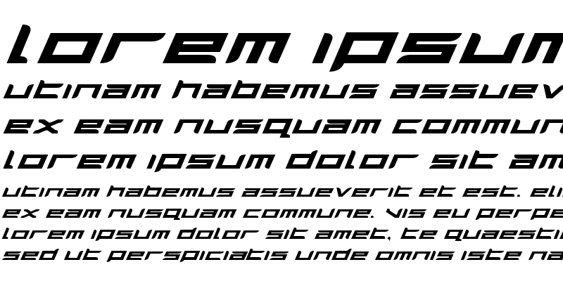 Sample of Harrier Bold Expanded Italic