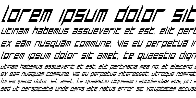 Sample of Harrier Condensed Italic