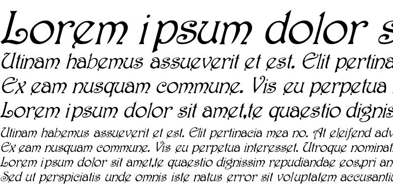 Sample of Harrington Italic