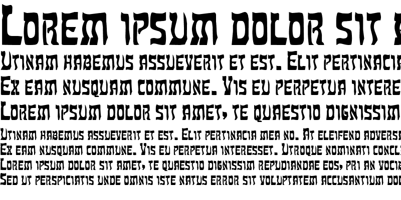 Sample of Hebrew Bold