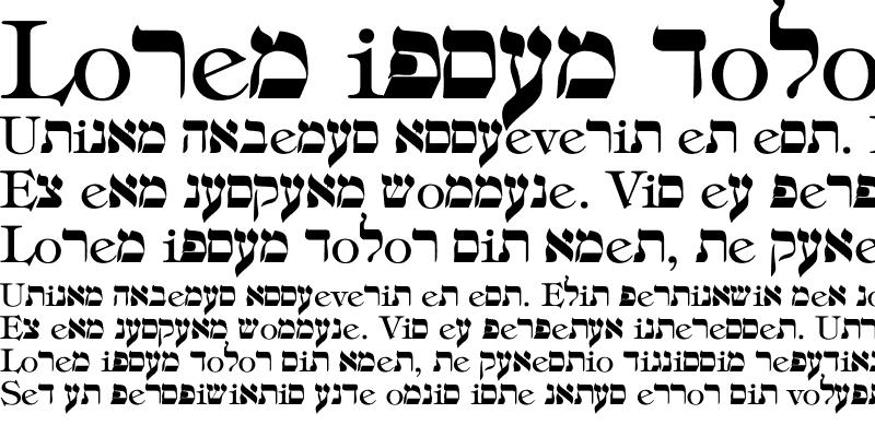 Sample of hebrew Regular