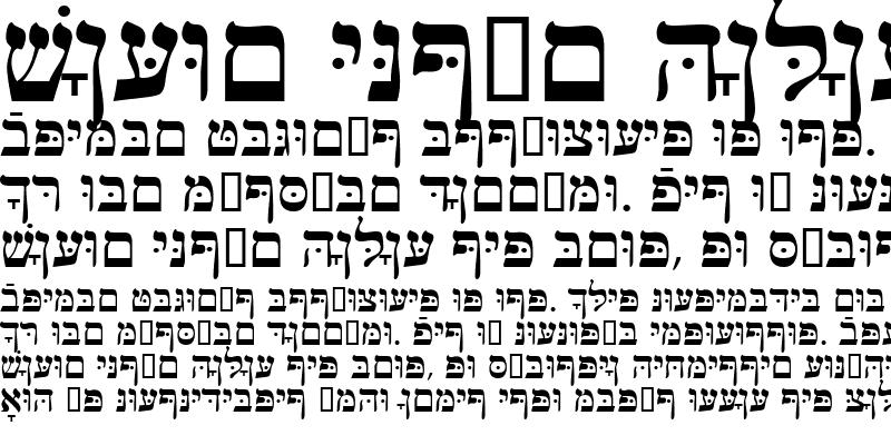 Sample of HebrewJoshuaSSK