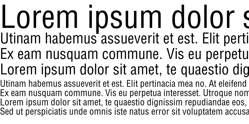 Sample of HelvCondensed Normal