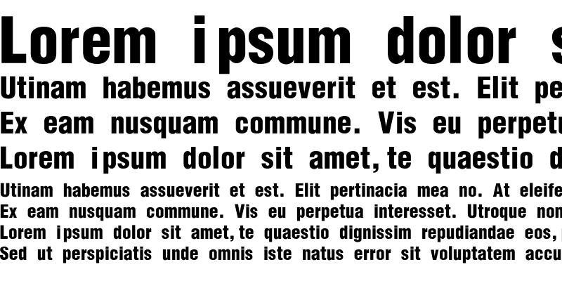 Sample of Helvetica-Condensed-Black-Se Regular