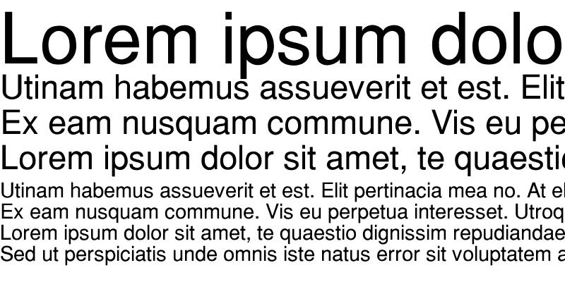 Sample of Helvetica-Normal