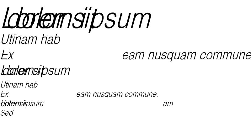 Sample of HelveticaCndObl-Light Regular