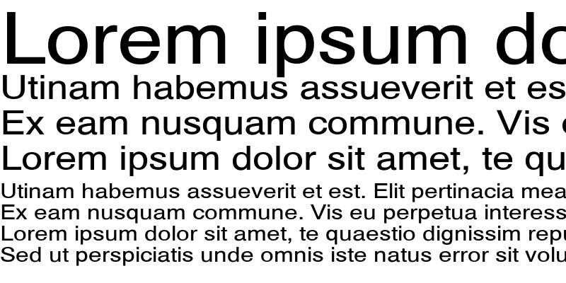 Sample of HelveticaExt-No Regular
