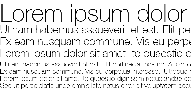 Sample of HelveticaNeueThin Regular