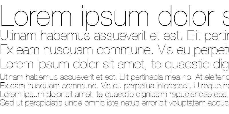 Sample of HelveticaNeueUltraLight Regular