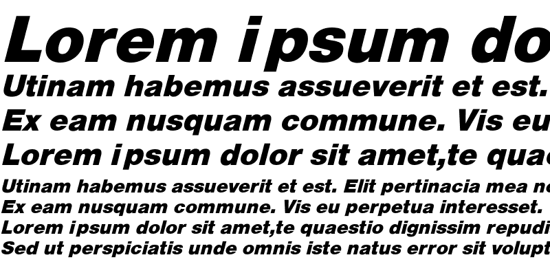 Sample of HelveticaObl-He