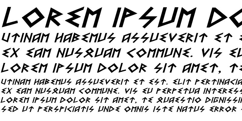 Sample of Heorot Expanded Italic
