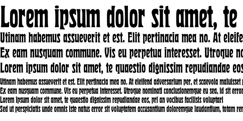 Sample of Herold Reklameschrift BQ Regular