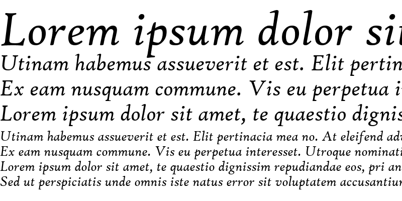Sample of High Tower Text Italic