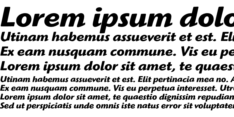 Sample of HighlanderEF Bold Italic