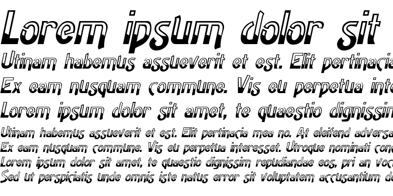 Sample of HighNoon Italic