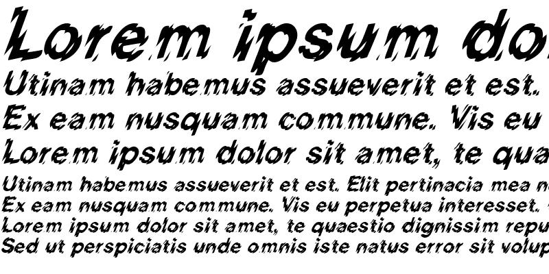 Sample of HighVoltage Italic