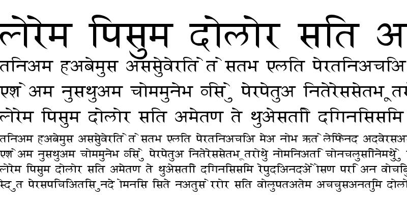 Sample of HindiSanskrit Regular