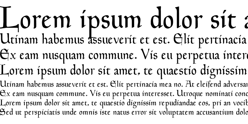 Sample of Hingham Text