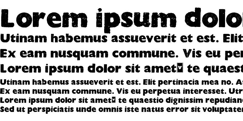 Sample of HOCUS FOCUS Bold
