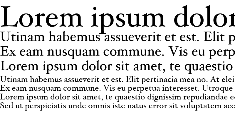 Sample of Hoefler Text Regular