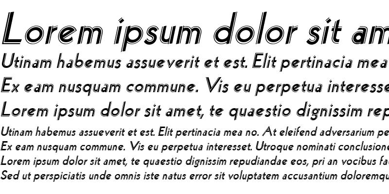 Sample of Hollywood Italic
