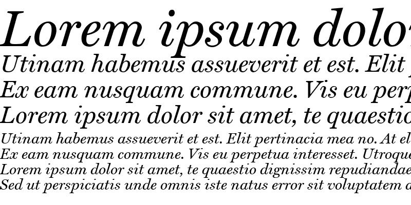 Sample of Home Italic