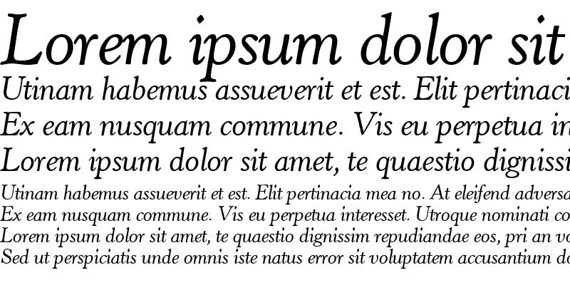 Sample of HopperOldStyle RegularItalic