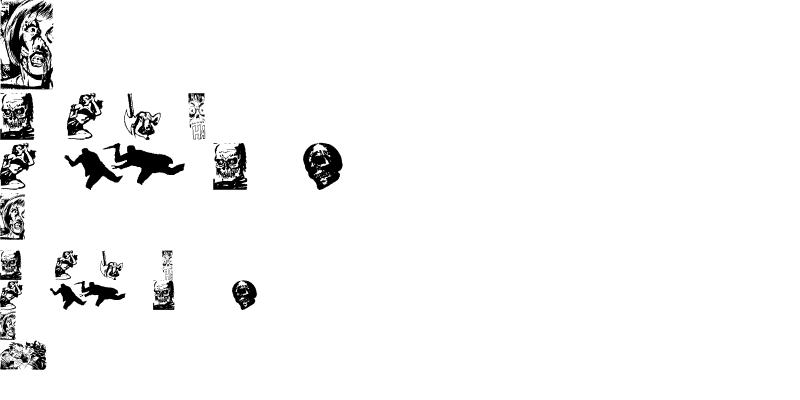 Sample of Horror Dingbats Eerie Edition Regular