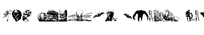 Preview of Horror Dingbats Regular