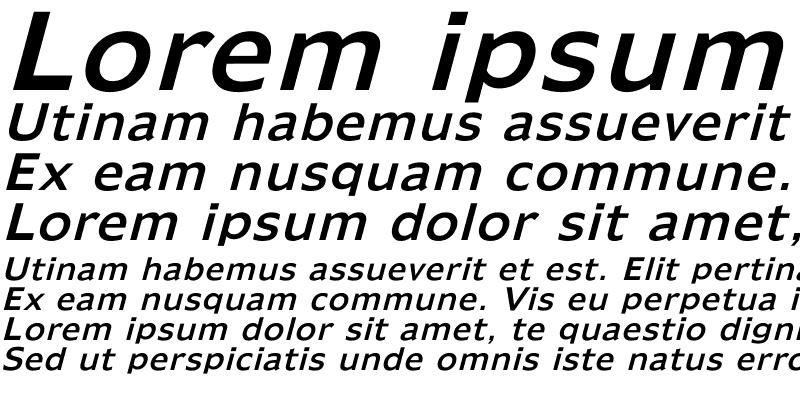 Sample of Humana Italic