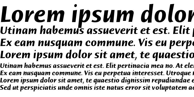 Sample of Humana Sans ITC Light Bold Italic