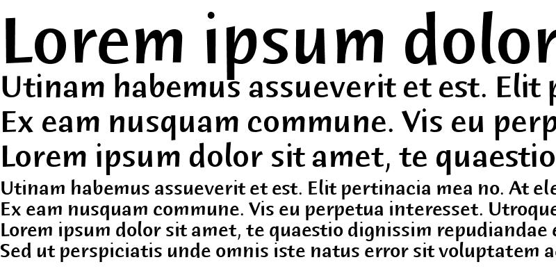 Sample of Humana Sans ITC Medium Regular