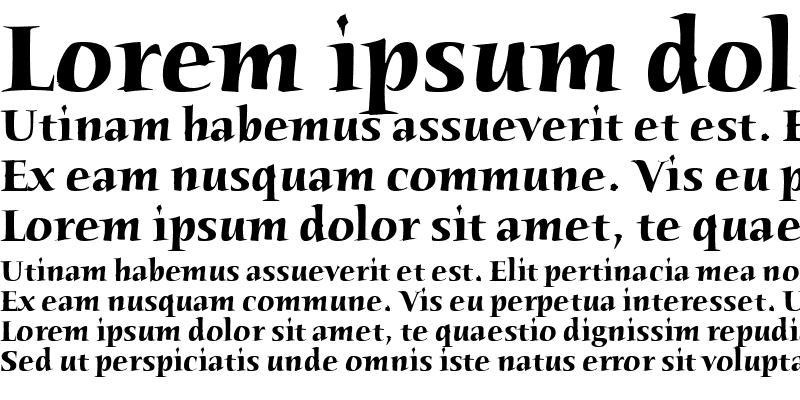 Sample of Humana Serif ITC TT Bold