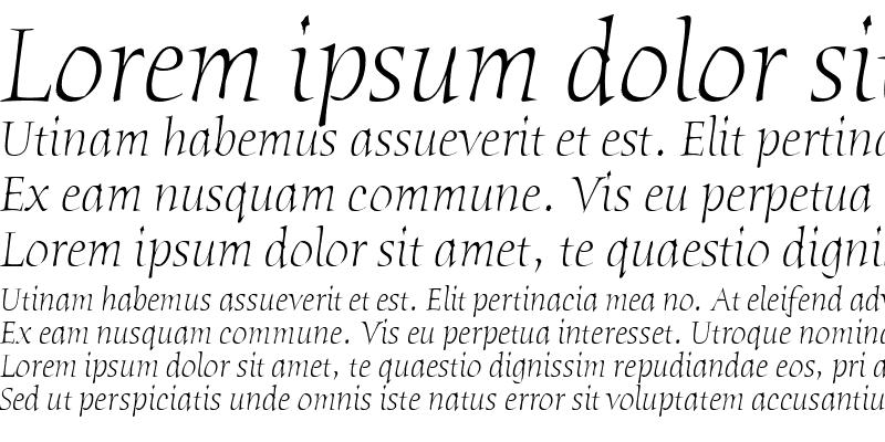 Sample of Humana Serif ITC TT LightItalic