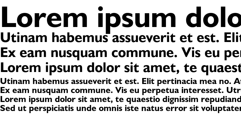Sample of Humanist 521 Bold