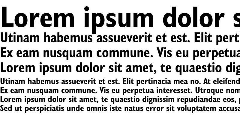 Sample of Humanist 521 Condensed Bold