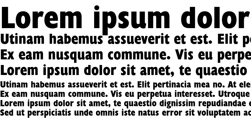 Sample of Humanist 521 Extra Condensed