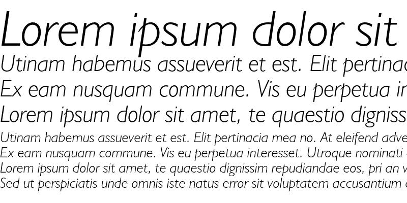 Sample of Humanist 521 Light Italic